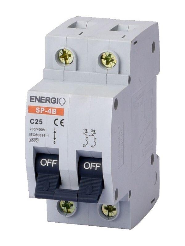 Автоматический выключатель ENERGIO SP 2P C 25А 4.5кА