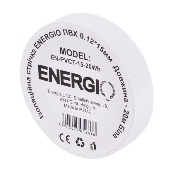Изоляционная лента ENERGIO ПВХ 0.12*15мм 20м белая